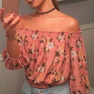 Off-the-Shoulder Floral Top